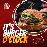 Red Fast Food Restaurant Instagram Image