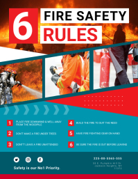 Red Fire Safety Rules Flyer