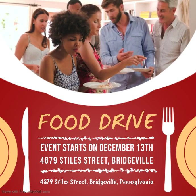 Red Food Drive Campaign Video Ad
