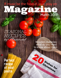 Red Food Magazine Cover Template Flyer (US Letter)
