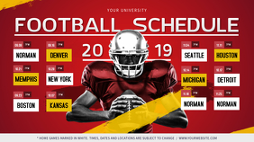 Red Football Digital Display Schedule