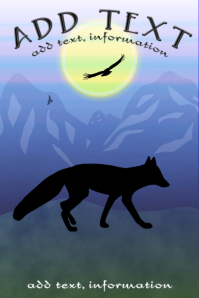 red fox at dawn wildlife poster template