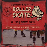 Red Freestyle Roller Skating Instagram Video template