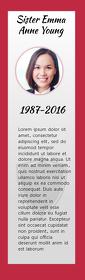 Red Funeral Keepsake Bookmark