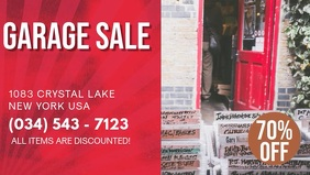 Red Garage Sale Digital Display