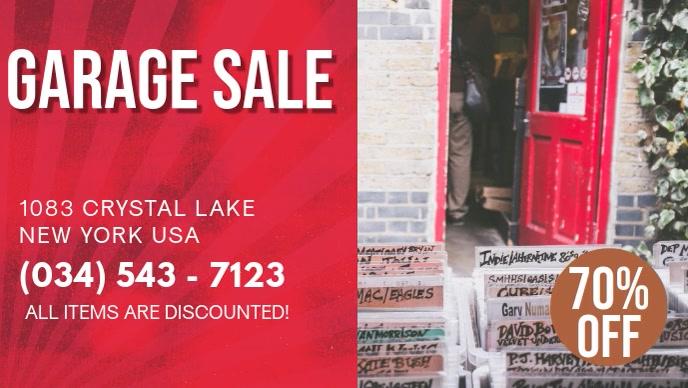 Red Garage Sale Digital Display