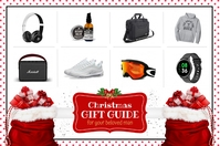 Red Gift Guide for Him Flyer 海报 template