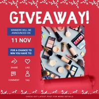 Red Giveaway Online Instagram Post Template Instagram-Beitrag
