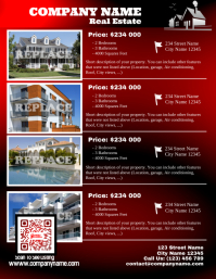 Red glossy real estate flyer - Letter size (new version)