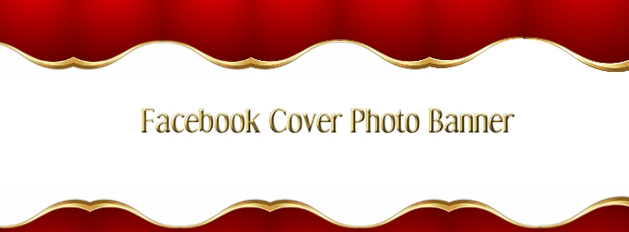 Red Gold Facebook Cover Banner