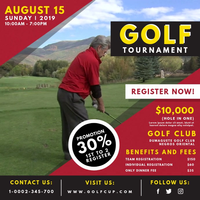 Red Golf Club Event Video Ad