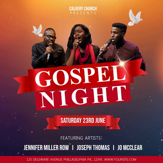 Red Gospel Night Church Event Square Video
