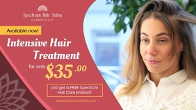 Red Hair Salon Special Offer Banner