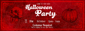 Red Halloween Party Facebook Cover Photo