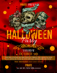 Red Halloween Party Flyer