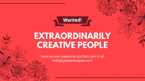 Red Hiring Creatives Twitter Post Design