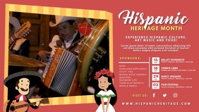 Red Hispanic Heritage Event Invite Video