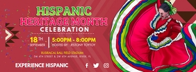 Red Hispanic Heritage Month Banner Facebook Cover Photo template
