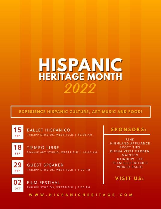 Red Hispanic Heritage Month Flyer