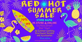 Red Hot Summer Sale for Facebook template