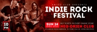 Red Indie Rock Festival Email Header Template Isihloko Se-imeyili