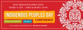 Red Indigenous Peoples Day Conference Faceboo Facebook Cover Photo template