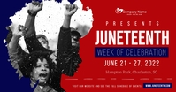 Red Juneteenth Facebook Shared Image template