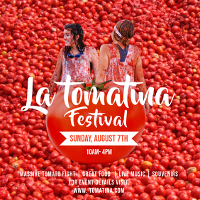 Red La Tomatina Square Image