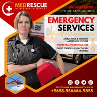 Red Lady Medical Services Instagram Post Temp Iphosti le-Instagram template