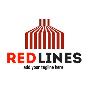 Red lines icon logo