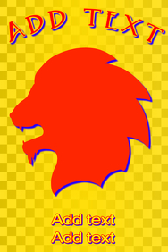 red lion roar icon - silhouette of a lions head when roaring