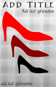 red luxury shoes high heel stylish tabloid template
