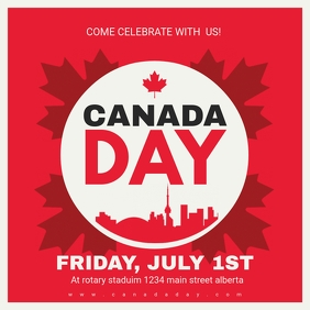 Red Maple Canada Day Instagram Post Ad