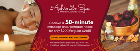 Red Massage and Facial Spa Banner