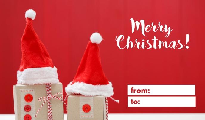 Red Merry Christmas Tag Etiqueta template