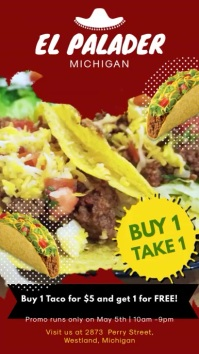 Red Mexican Restaurant Digital Display Ad