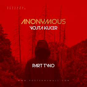 Red Mixtape ANONYMOUS CD Cover Art Template