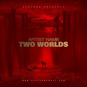 Red Mixtape CD Cover Art Template
