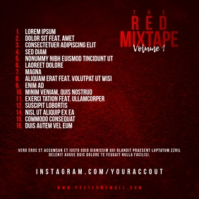 Red Mixtape Tracklist CD Cover
