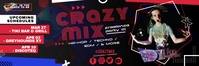 Red Modern DJ Mix Concert Email Header Templa template