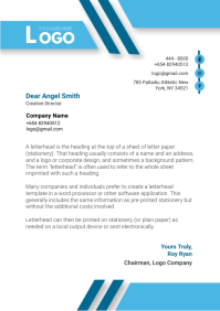 Red Modern Letterhead Design