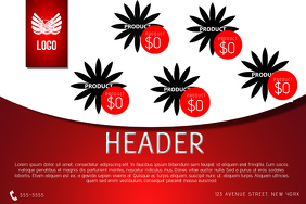 red multipurposal small bussiness landscape flyer print template