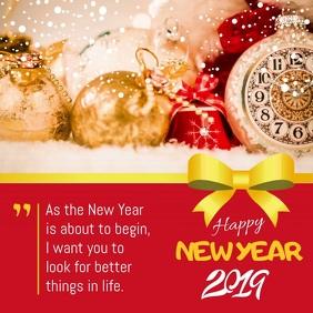 Red New Year Greetings Instagram Video