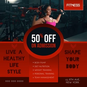 Red New Year Gym Deal Square Video