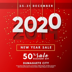 Red New Year Sale Promo Instagram Ad