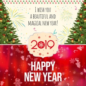 Red New Year Wish Instagram Video Template Postermywall