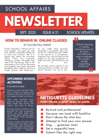 Red Newsletter for School Design