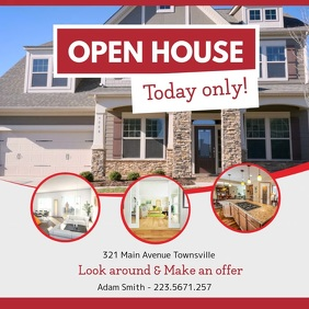 Red Open House Online Ad