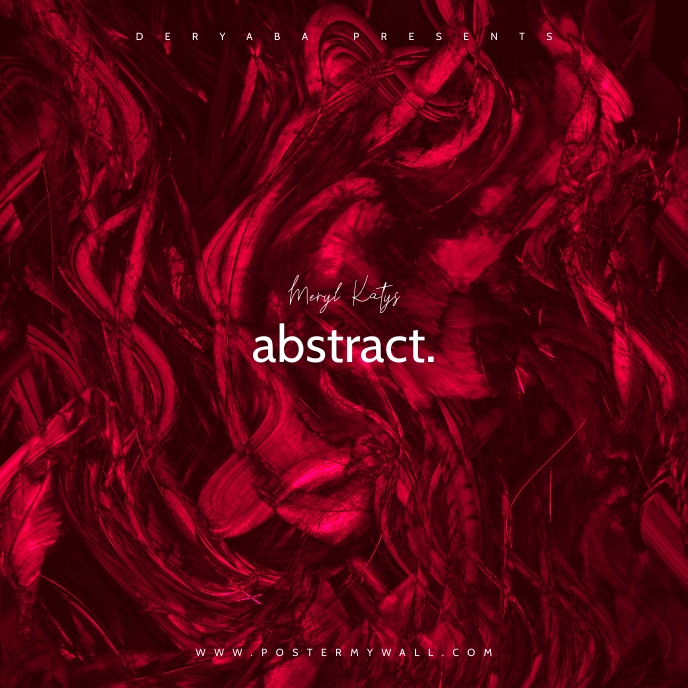Red Pink Dirty Abstract CD Cover Music Portada de Álbum template