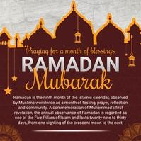 Red Ramadan Invite Instagram Post Template Instagram-bericht